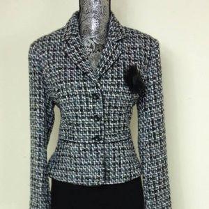 Worthington Black, White, Teal & Turquoise Jacket